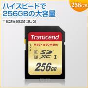 SDXCカード 256GB Class10 UHS-I U3対応 Transcend製