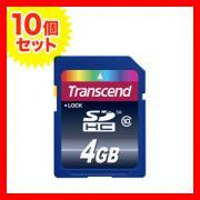 SDHCカード 4GB Class10対応 TS4GSDHC10 Transcend(トランセンド・ジャパン) 【永久保証】【10個セット】