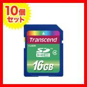 SDHCカード 16GB Class4対応 TS16GSDHC4 Transcend(トランセンド・ジャパン) 【永久保証】【10個セット】