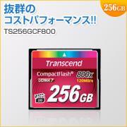 コンパクトフラッシュカード 256GB 800倍速 Transcend社製 TS256GCF800