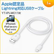 Lightningケーブル(iPhone6s対応・Apple MFI認証品・充電・同期・Lightning・1m・ホワイト)