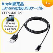 Lightningケーブル(iPhone6s対応・Apple MFI認証品・充電・同期・Lightning・1m・ブラック)