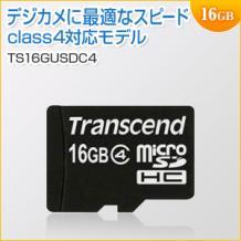 microSDHCカード 16GB Class4 Transcend製