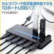 USBハブ(10ポート・USB2.0・セルフパワー)
