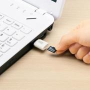超激安 199円 USB2.0カードリーダー(マイクロ(micro)SD対応・ホワイト)YT-ADR102
